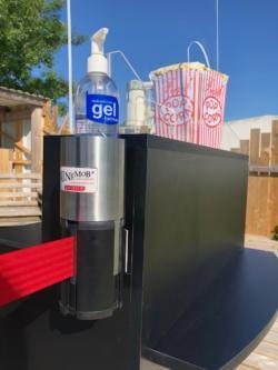 Adaptateur support gel inox sur poteaux Beltrac - ADAPTE AUX GUIDE FILES MURAUX
