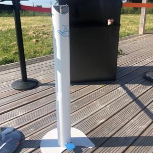 Borne distributeur gel hydroalcoolique avec réservoir de 4.75L
